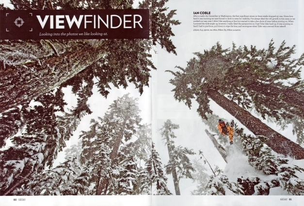2013 SBC Skier Photo Annual. 2 pg spread.